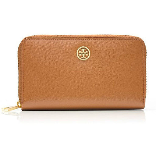 Tory Burch Leather Robinson Double zip Continental Wallet