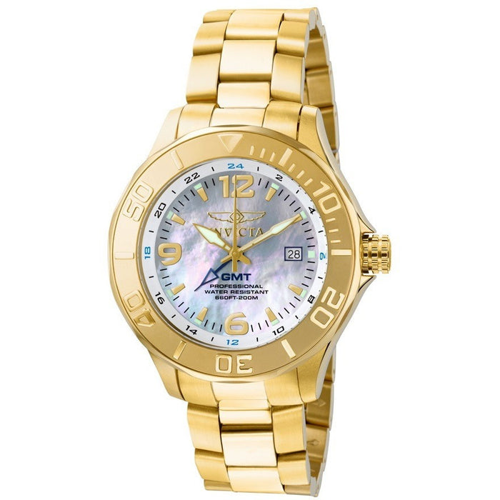 Invicta Men's Pro Diver GMT 18k Gold-Plated Stainless Steel Watch 6889