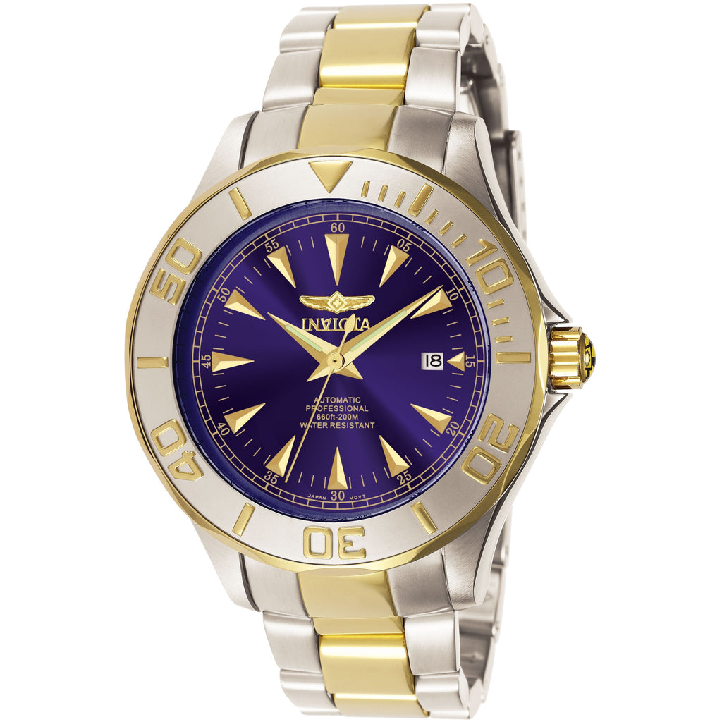 Invicta Men's 7038 Signature Automatic 3 Hand Blue Dial Watch