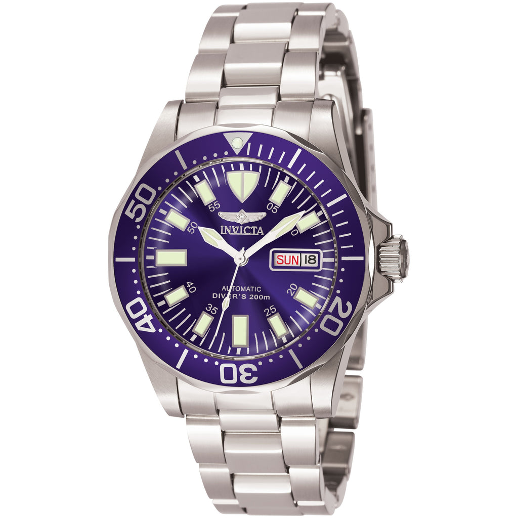 Invicta Men's 7042 Signature Automatic 3 Hand Blue Dial Watch