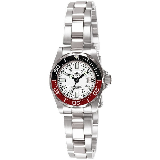 Invicta Women's 7062 Signature Quartz 3 Hand White Dial Watch