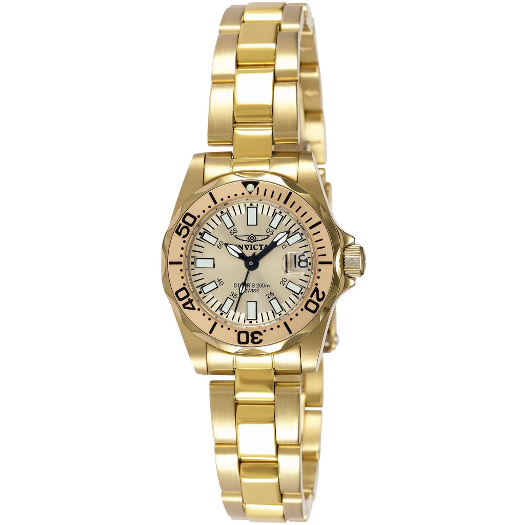 Invicta Women's 7065 Signature Quartz 3 Hand Champagne Dial Watch