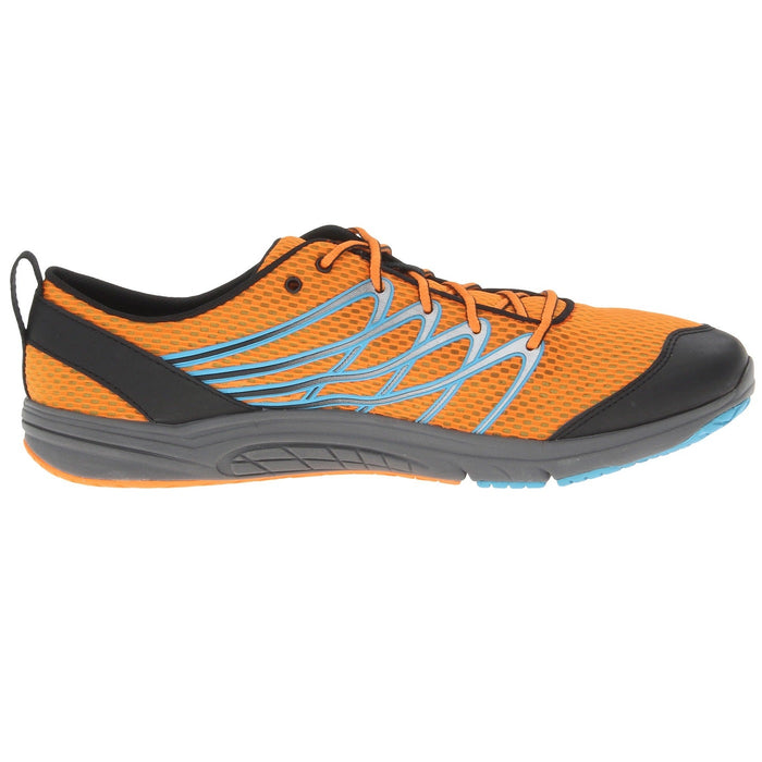 Merrell Men's Bare Access 3 Running Shoe,Orange Peel/Blue - J06285