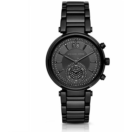Michael Kors MK6297 Sawyer SPECIAL EDITION Black-Tone Glitz Dial Women's Watch