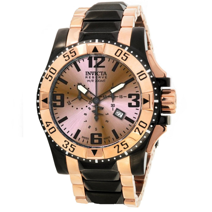 Invicta Men's 80380 Excursion Quartz Chronograph Rose Gold Dial Watch