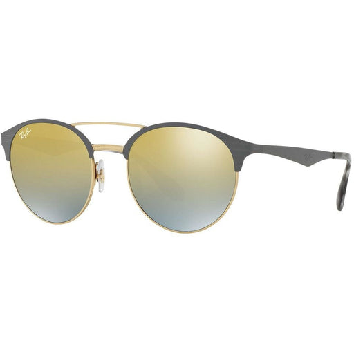 Ray-Ban RB3545/9007A7 Grey,Gold, Green Lenses Sunglasses