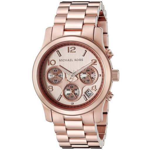 Michael Kors Women's Runway Rose Gold-Tone Stainless Steel Watch MK5128