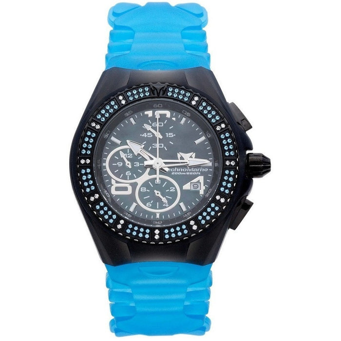 TechnoMarine Unisex 108034 Cruise Gem Chrono Blue Topaz Watch