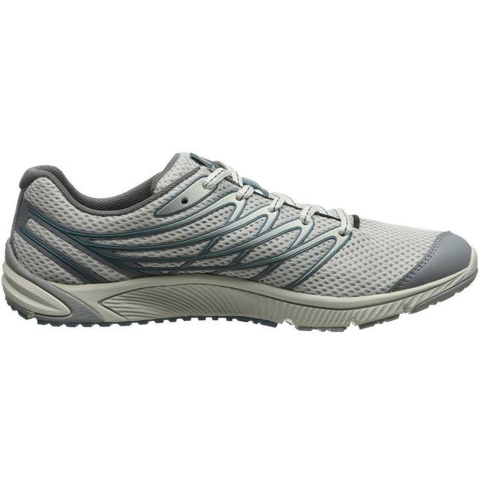 Merrell Men's Bare Access 4 Trail Running Shoe, Light Grey/Sea Blue J03919