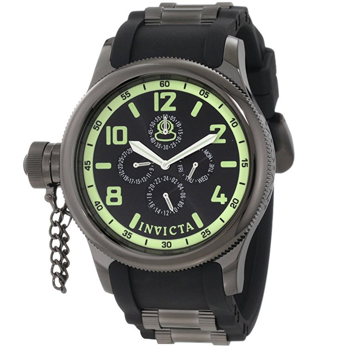Invicta Men's Russian Diver Quartz Multifunction Black Dial Watch 1805
