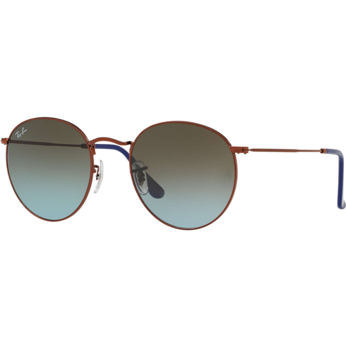Ray-Ban Round Metal Bronze-Copper Sunglasses, RB3447/900396
