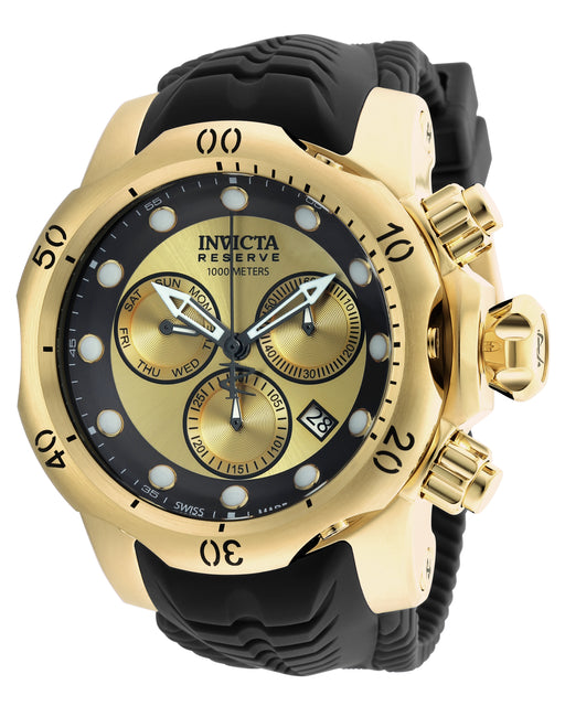 Invicta Men's 90147 Venom Quartz Chronograph Gold, Black Dial Watch