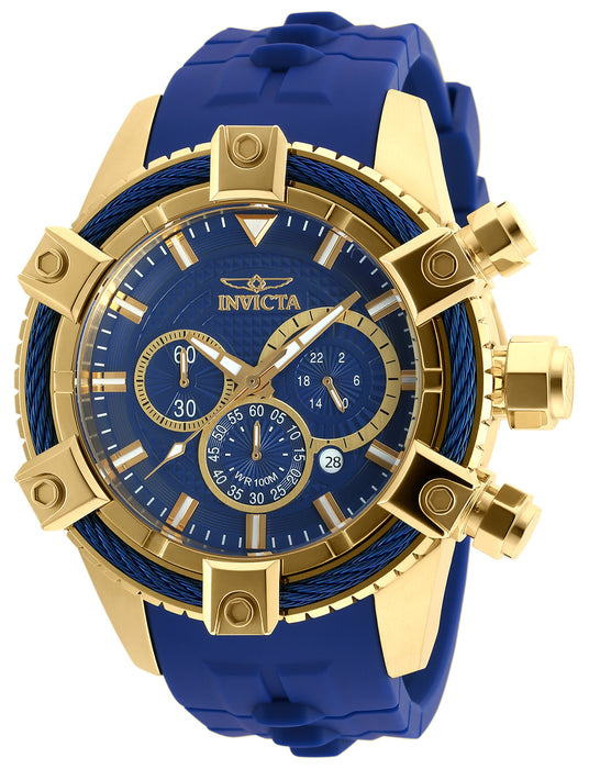 Invicta Men's 90269 Bolt Quartz Chronograph Blue Dial Watch