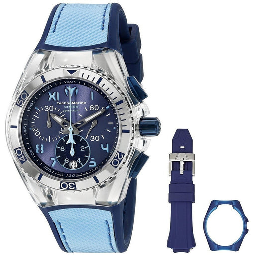 Technomarine Women's Cruise California TM-115014 Stainless Steel Watch with Interchangeable Case Cover and Band