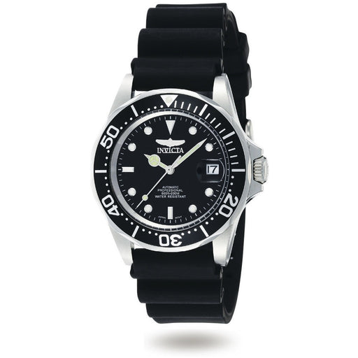 Invicta Men's 9110 Pro Diver Automatic 3 Hand Black Dial Watch