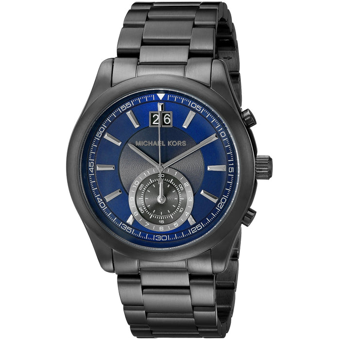 Michael Kors Aiden Chronograph Navy Dial Gunmetal-Tone Men's Watch MK8418