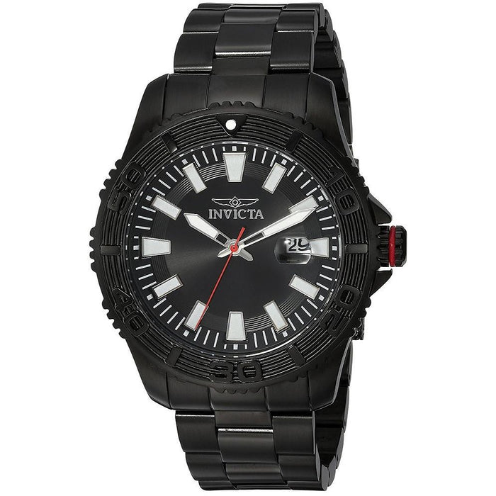 Invicta Men's Pro Diver Quartz Multifunction Black Dial Watch 22411