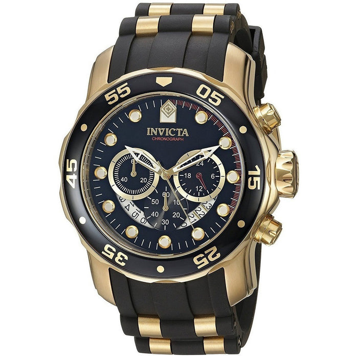 Invicta Men's Pro Diver Analog Swiss Chronograph Black Dial Watch 6981