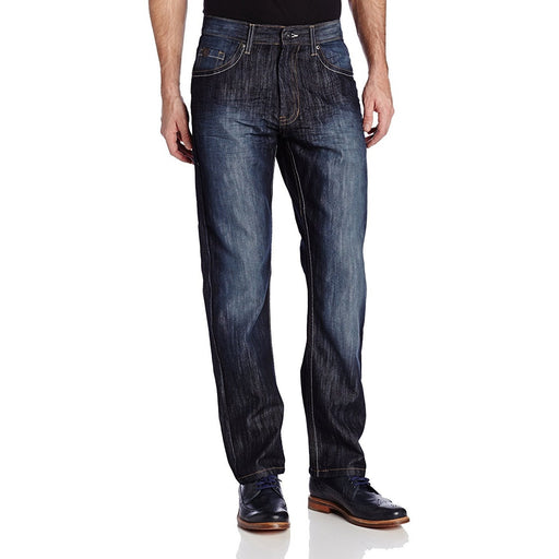 Southpole Men's 6181 Regular Straight Fit Shiny Streaky Jean