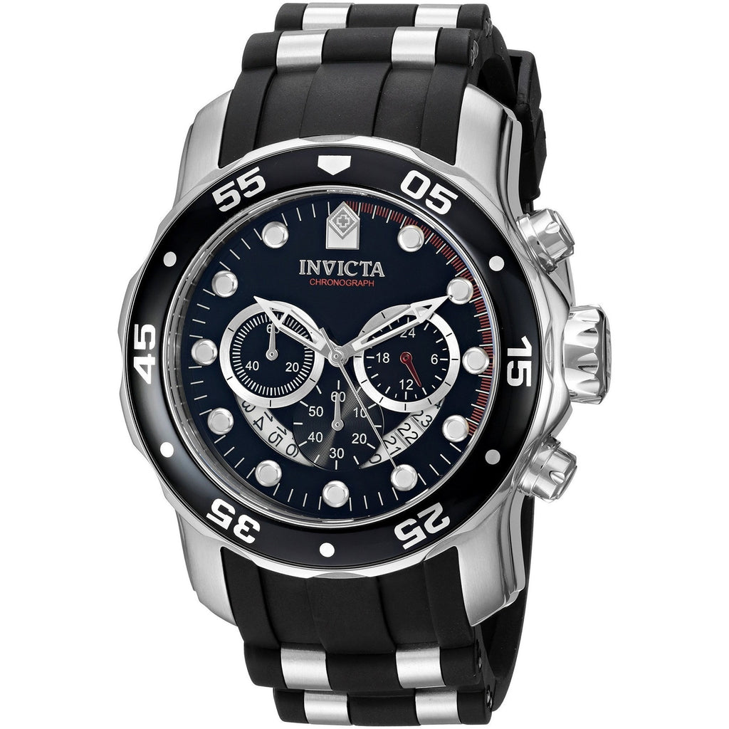 Invicta Men's 6977 Pro Diver Quartz Chronograph Black Dial Watch