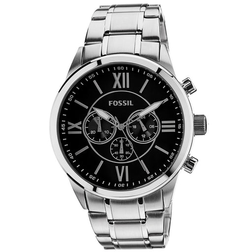 Fossil Stainless Steel Chronograph Black Dial Roman Numerals Bq1125