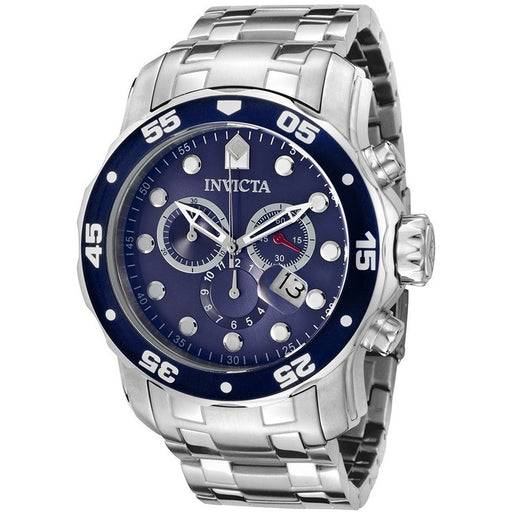 Invicta Men's 0070 Pro Diver Quartz Chronograph Blue Dial Watch - lalamall
