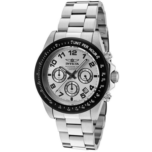 Invicta Men's 10702 Speedway Chronograph Silver Dial Stainless Steel Watch