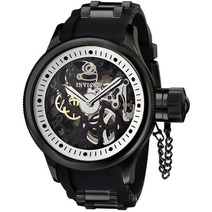 Invicta Men's Russian Diver Stainless Steel Watch with Skeleton Window 1091