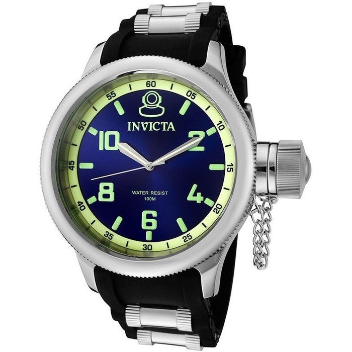 Invicta 1434 Russian Diver Blue Dial Stainless Steel Men's Watch
