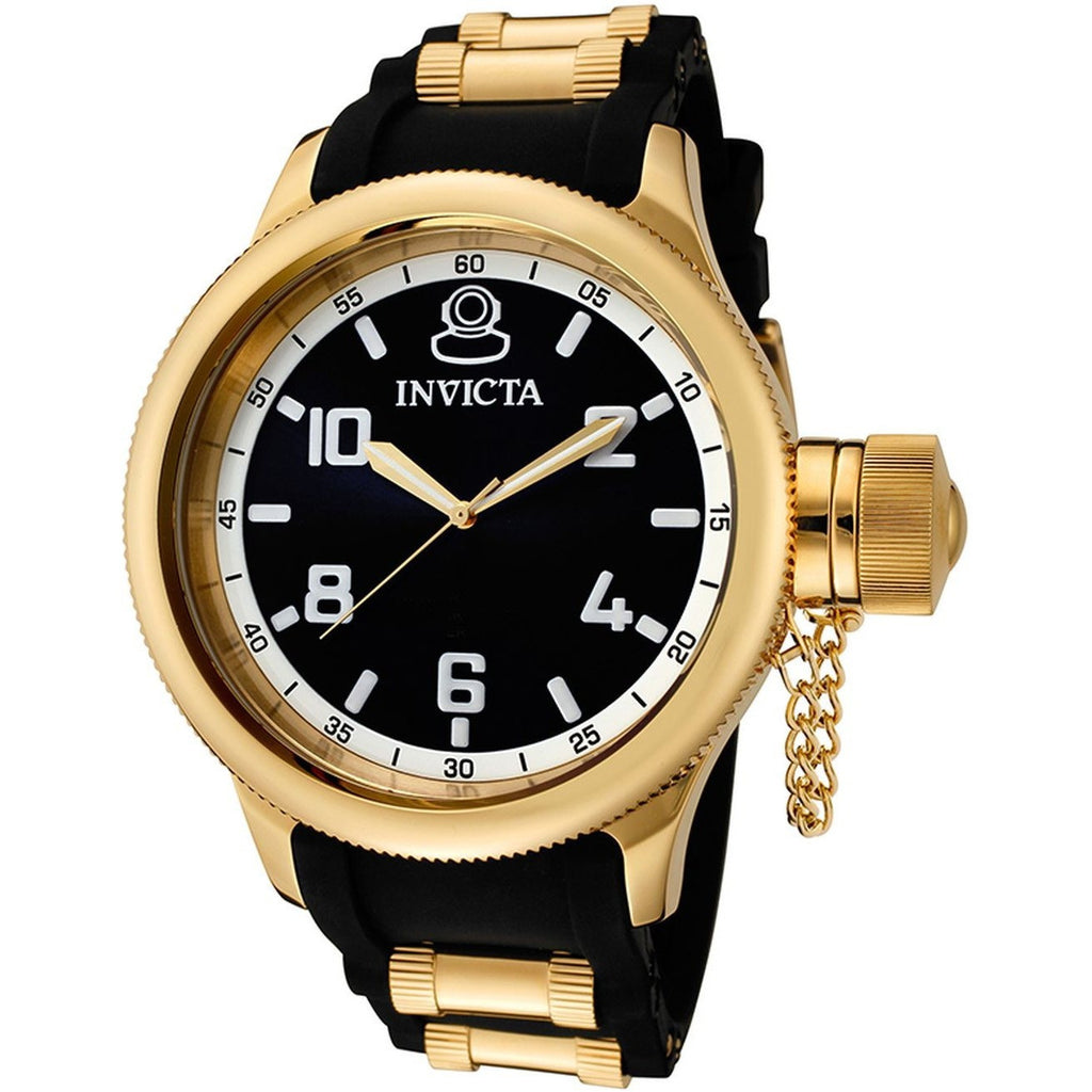 invicta men s 1436 18k gold ion plated stainless steel russian invicta 1436 843836014366 1436