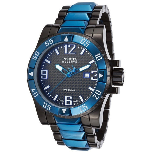 Invicta 15481 Men's Excursion Reserve Two-Tone Ion Plated SS Black Carbon Fiber Dial