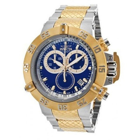 Invicta 19327 Men's S1 Rally Chrono Black Dial Yellow Gold Steel & Black Silicone Strap Watch