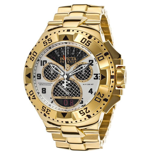 Invicta 17470 Men's Excursion Reserve Chrono 18k Gp Ss Black Carbon Fiber Dial