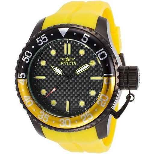 Invicta Men's 17513 Pro Diver Stainless Steel Watch with Yellow Band
