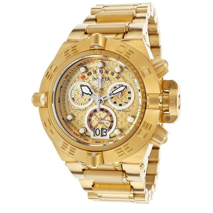 Invicta 17606 Subaqua Chrono 18k Gold Plated Stainless Steel Gold-tone Men's Watch