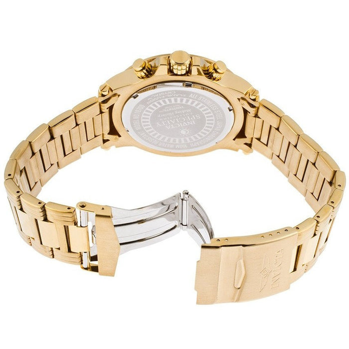 Invicta Men's 19700SYB Specialty Analog Display Japanese Quartz Gold Watch
