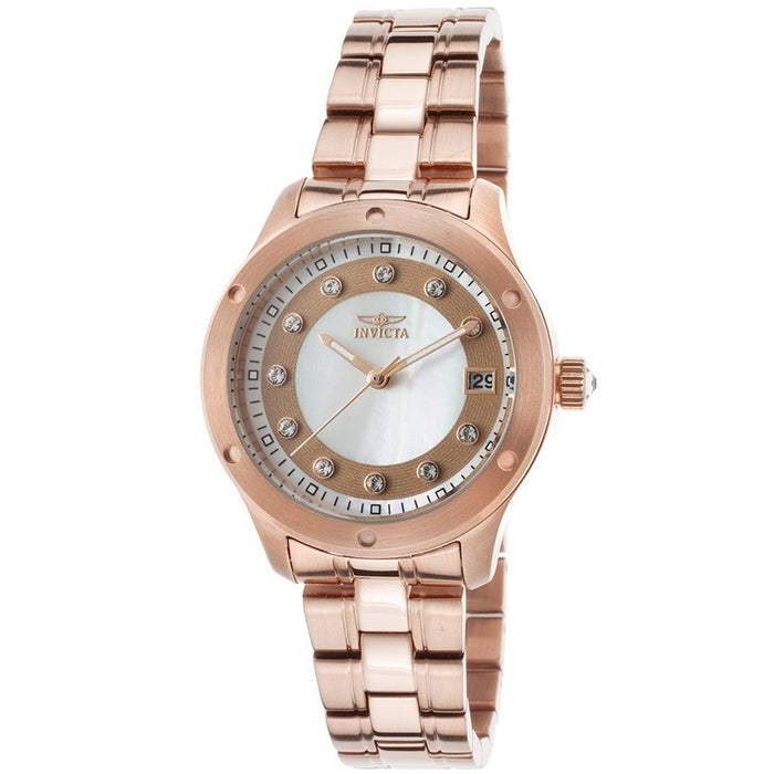 Invicta Women's 21406 Wildflower Analog Display Japanese Quartz Rose Gold Watch
