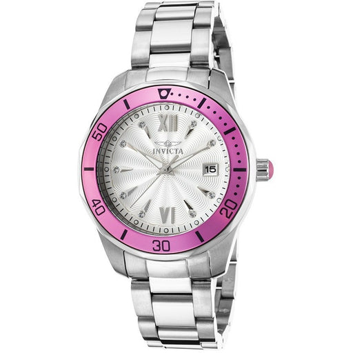 Invicta 21906 Women's Pro Diver Stainless Steel Silver-Tone Watch