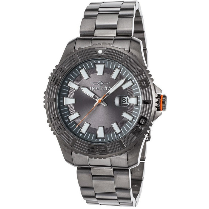 Invicta 22410 Men's Pro Diver Gunmetal Ion Plated Ss Grey Dial Gunmetal
