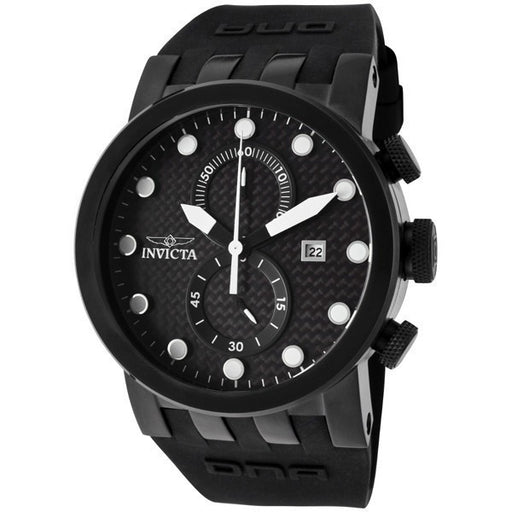 Invicta Men's 10427 DNA Racer Chronograph Black Carbon Fiber Dial Black Silicone Watch