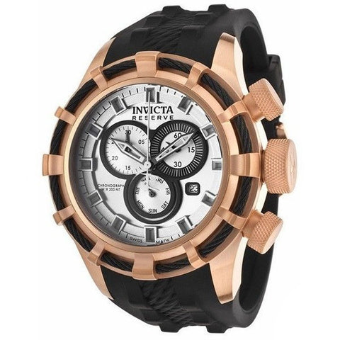 Invicta Men's Bolt 15781 Bolt Reserve Chrono Black Polyurethane Gold-Tone Dial