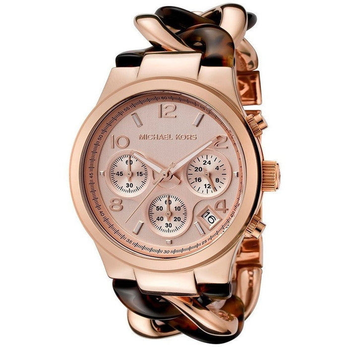 Michael Kors Chronograph Runway Twist Gold Watch MK4269