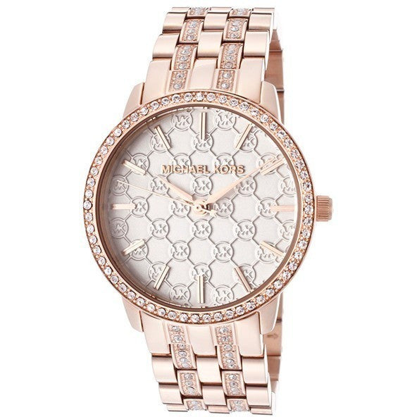 Michael Kors Lady Nini Logo Dial Rose Gold-Tone Crystal Ladies Watch MK3183