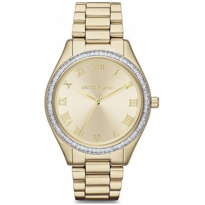 Michael Kors Blake Champagne Dial Gold-Tone Women's Watch MK3244