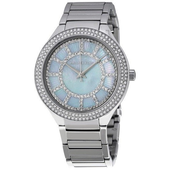 Michael Kors MK3395 Ladies Kerry Silver Tone Watch - lalamall