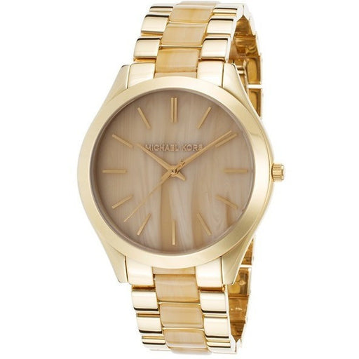 Michael Kors Women's Runway Horn Gold-Tone Bracelet Watch MK4285
