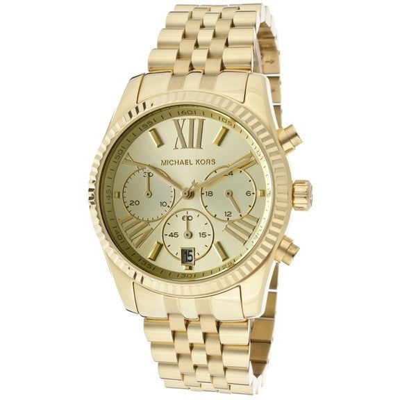 Michael Kors MK5556 Women's Chronograph Gold Tone Dial Gold Tone Stainless Steel