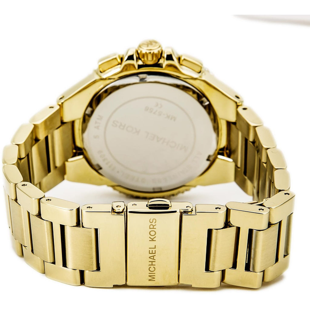 Michael Kors Women's Camille Gold-Tone Glitz Stainless Steel Watch MK5756