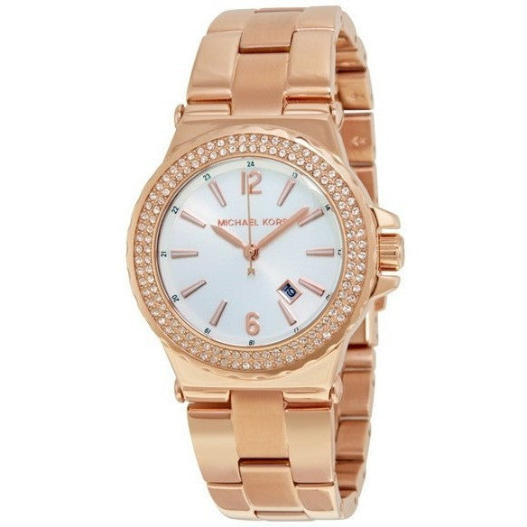 Michael Kors MK5921 Women's Ritz Rose Gold Stainless-Steel Quartz Watch - lalamall