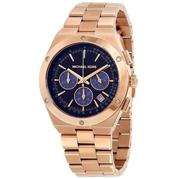 Michael Kors MK6148 Raegan Blue Dial Gold Tone SS Quartz Chrono Ladies Watch